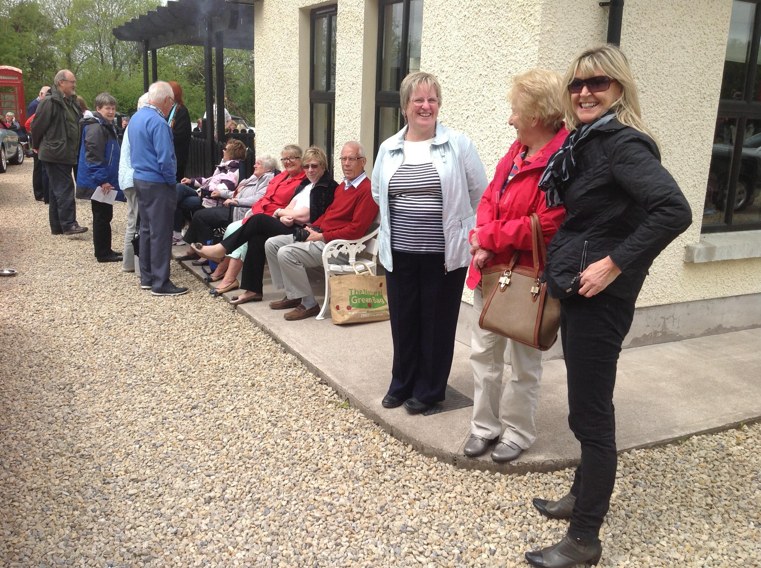Members enjoying the craic on the Omagh Run 2014 1 db